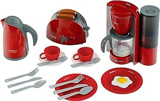 Theo Klein 9564 Bosch ontbijtset|Keukenset bestaande uit broodrooster, koffiemachine, waterkoker en nog veel meer|Afmeting...