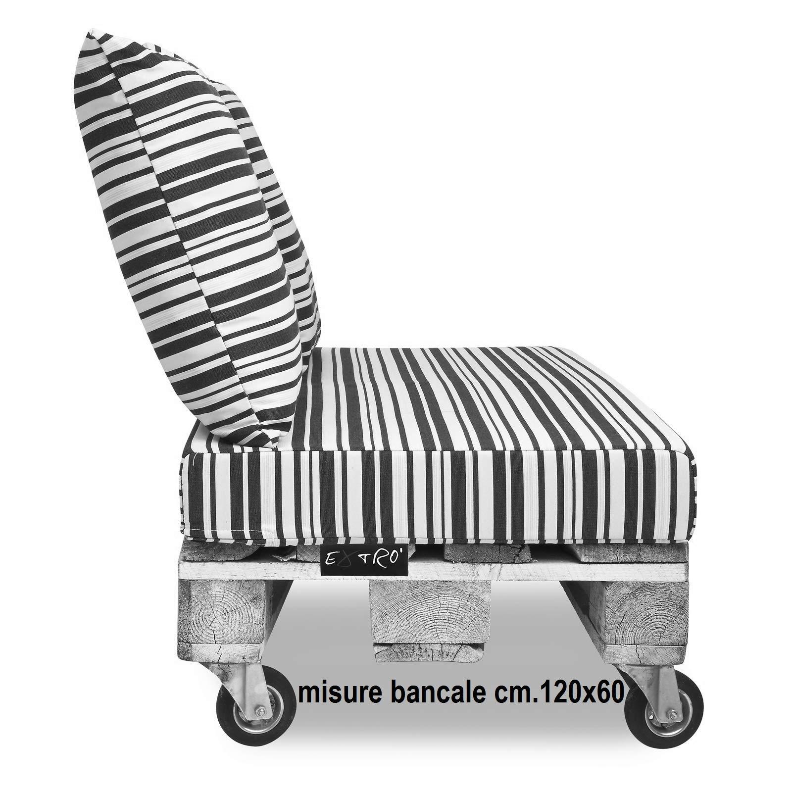 ExtroItaly Belem - Juego de cojines para palés, 120 x 60 cm + ...