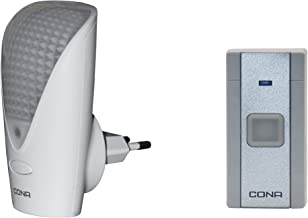 Cona Smyle Elite Electrical Remote Door Bell with Sensor LED Night Lamp (White)
