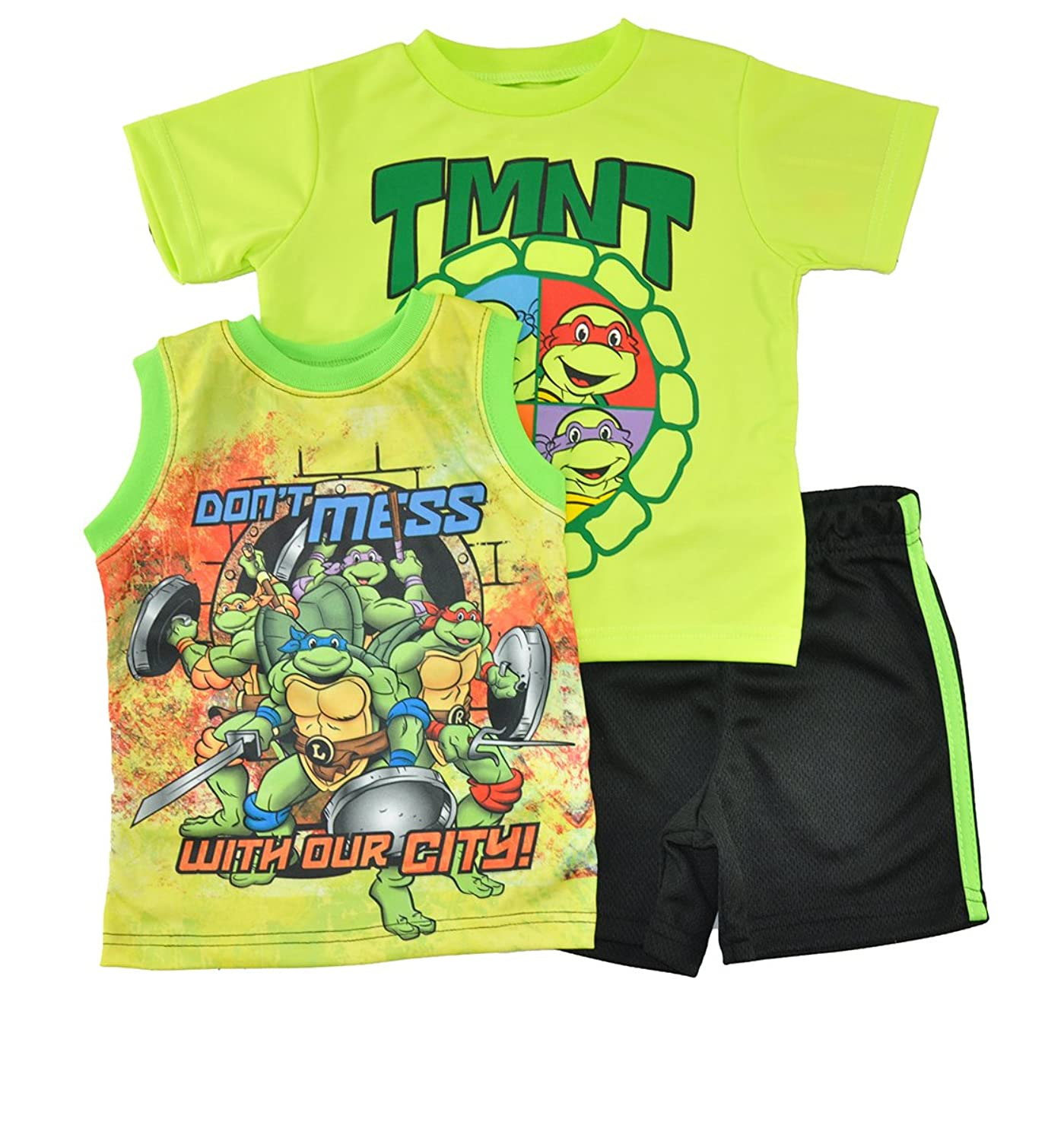 ニコロデオンボーイズ' Teenage Mutant Ninja Turtles 3個入りTop and Short Set