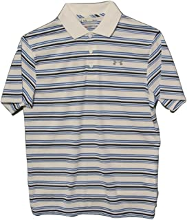 Under Armour Mens Clubhouse Striped Golf Polo Shirt (Large)