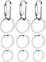 Jovitec 3 Sets Dog Tag Clip Durable Dog ID Tag with Rings for Dogs and Cats Collars Harnesses