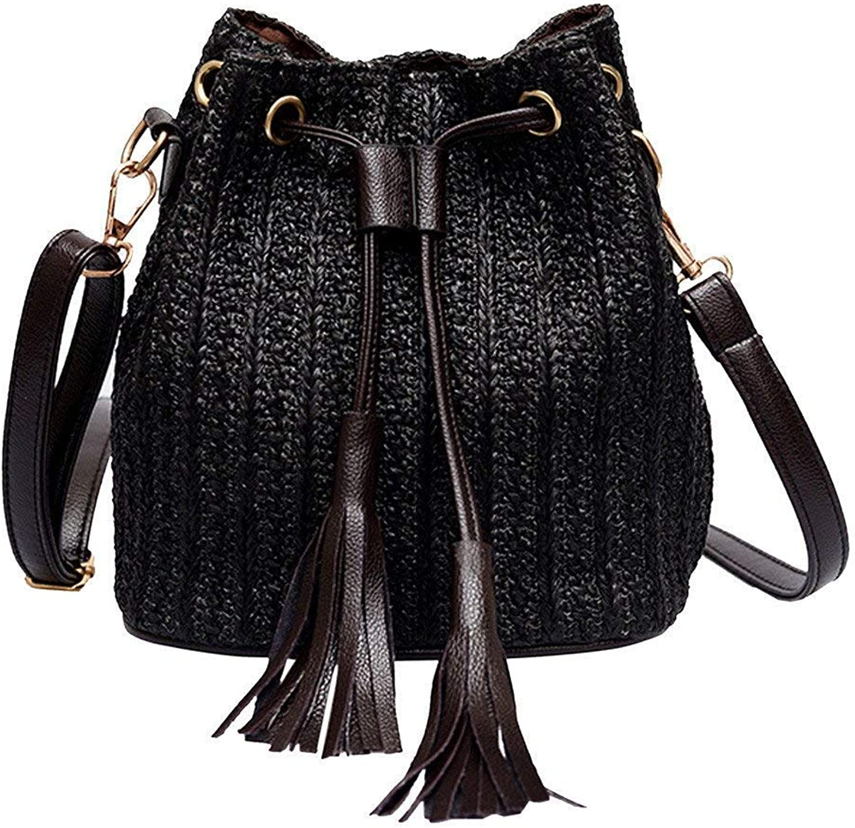 13c7b3f4ff396 Bloomerang Messenger Bag Women Vintage Weaving Tassel Handbag Female  Shoulder Drawstring Crossbody Bags Beach Handmade Bucket