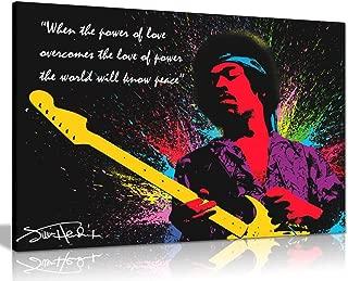 Jimi Hendrix Quote Colour Splash Canvas Wall Art Picture Print (30x20in)