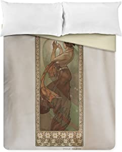 Lantern Press France - The Stars B (North Star) - (Artist: Mucha, Alphonse c. 1902) - Vintage Advertisement 58980 (88x88 Queen Microfiber Duvet Cover)