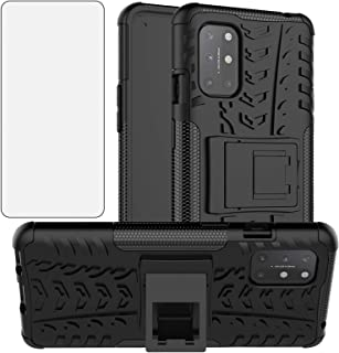 Phone Case for OnePlus 8T OnePlus8T Plus 5G with Tempered Glass Screen Protector Cover and Hard Rugged Hybrid Cell Accesso...