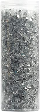 ZenQ Crushed Glass for Crafts, Resin Art. 1.5 lbs