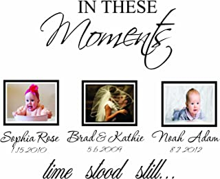 in These Moments Time Stood Still Wall Decal Art Vinyl Sticker