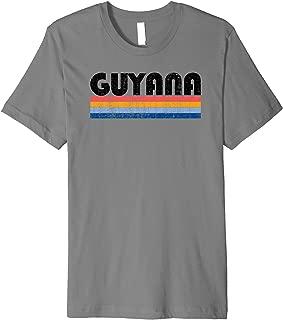 Vintage 70s 80s Style Guyana Premium T-Shirt