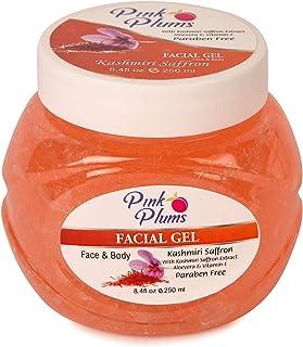 PINK PLUMS Glowing Kashmiri Saffron Facial Gel with Vitamin-E, 250 ml