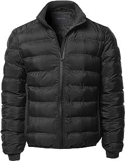 Youstar Men's Casual Zip Up Outdoor Waterproof Winter Parka Long Sleeves Jacket
