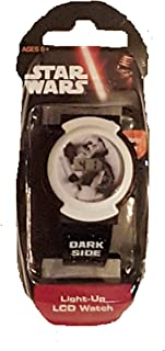 Star Wars Kids Dark Side Digital Display Light-Up LCD WHITE and BLACK Watch