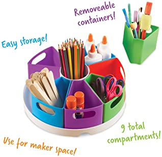 Learning Resources Create-a-Space Storage Center, Homeschool Storage, Fits 3oz Hand Sanitizer Bottles, Bright Colors,...