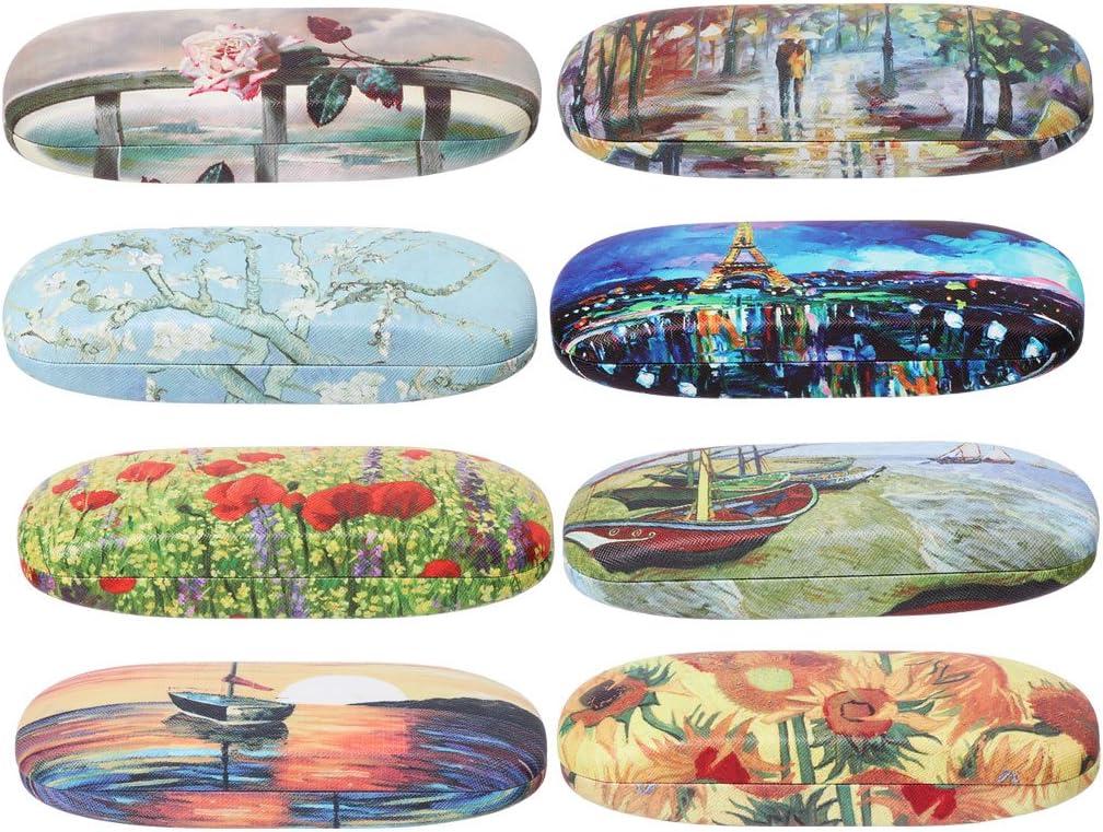 EXING Lunettes Bo/îte Peinture /à lHuile Lunettes Cas Vintage Bo/îte De Rangement Lunettes De Soleil Accessoire 5#