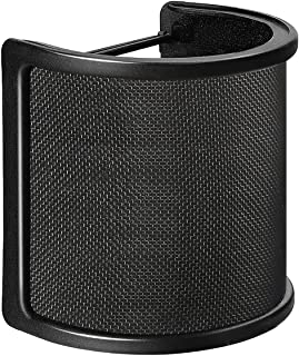 Pop Filter,Aokeo [Upgraded Three Layers] Metal Mesh & Foam & Etamine Layer Microphone Windscreen Cover Handheld Mic Shield...