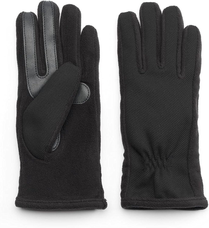 Women's Isotoner Stretch Tech Gloves, Black, M/L