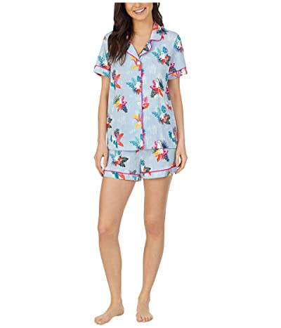 BedHead Pajamas Short Sleeve Classic Shorty Pajama Set (Monkey Around) Women