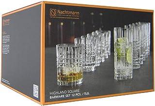 Spiegelau & Nachtmann 12er Geschenkset Highland 6x Tumbler & 6x Longdrink Glasset