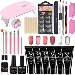 Nail Extension Glue Set, 15ml Model Glue UV Fast Nail Extension Without Paper Support, for Professional Salons and Homes