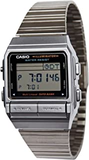 CASIO DATA BANK (カシオ データバンク) DB-380-1D/DB380-1D テレメモ デジタル シルバー メンズウォッチ 腕時計 [並行輸入品]