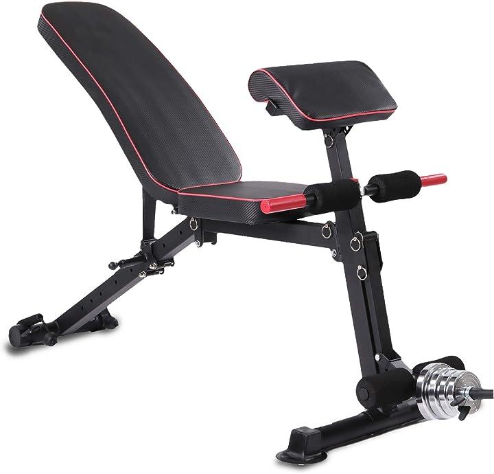 Panca multifunzione pieghevole pesi manubri allenamento completo dei muscoli venduto da anna-fit - fitness B08H5LZ71H