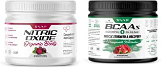 Beet Root Powder Organic + BCAA Powder with Nitric Oxide Booster by Snap Supplements