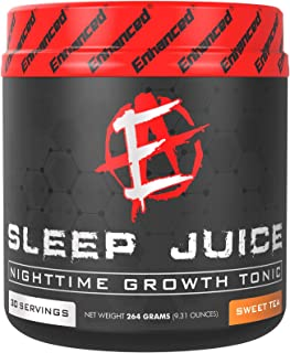 Enhanced Labs Sleep Juice Powder Supplement (30 Servings) for Bodybuilding–Calming Insomnia Sleep Aid with Melatonin, GABA...