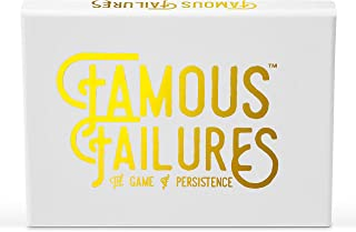 Famous Failures, Success Education Card Game for Learning Persistence & Overcoming Rejection