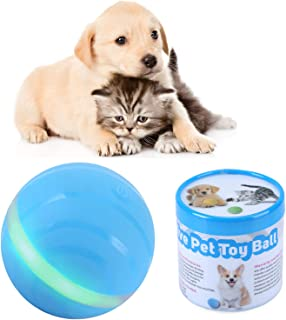 IMYMAX Cats and Dogs Toys Wicked Balls with USB Rechargeable RGB LED Lights Waterproof Smart Interactive Pet Toys Chew Training Ball 100% Automatic Ball to Keep Your Pets Entertained All Day