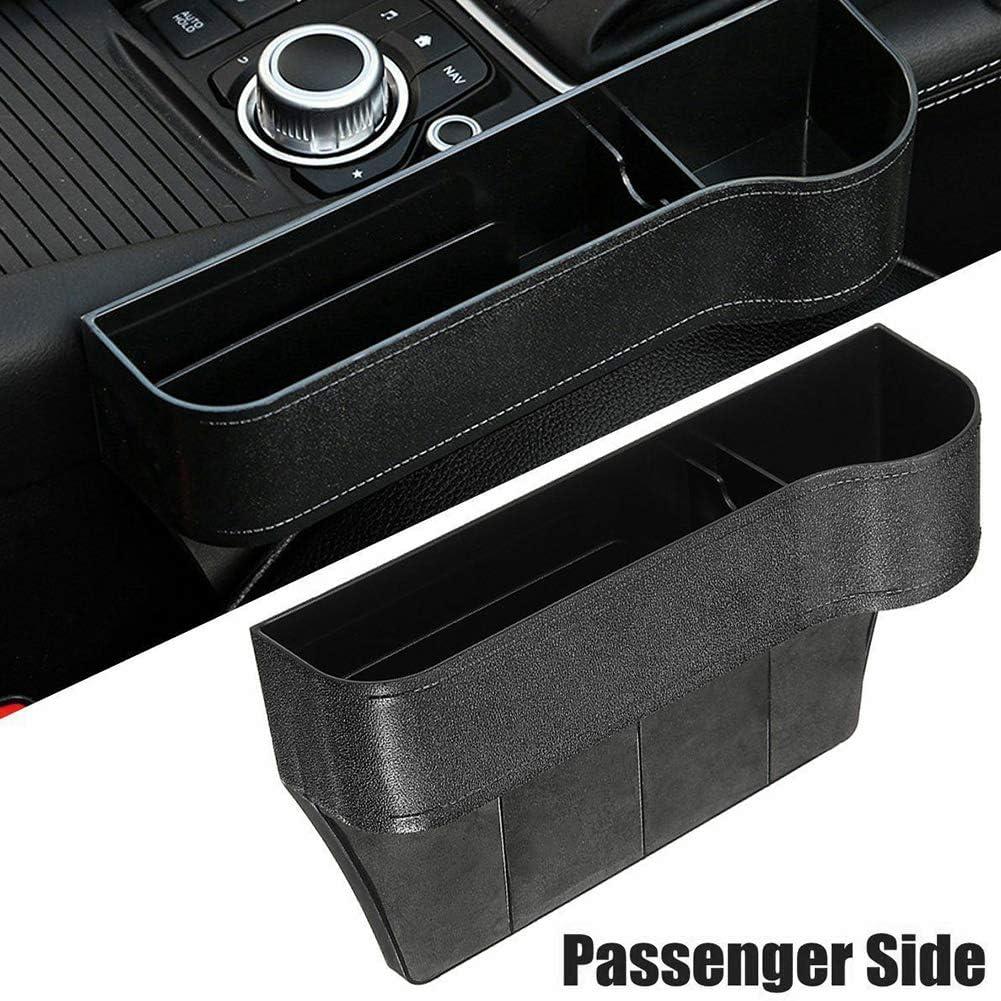 Ggaggaa 1 Stück Auto Aufbewahrungsbox Auto Becherhalter Sitz Lücke Catcher Freiheit Aufbewahrungsbox Aufbewahrungsbox Seite Schwarz Auto