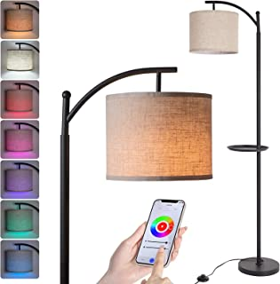 Wowatt Lampadaire LED RGB Smart 60W,Lampadaire sur Pied Salon Compatible avec Alexa Google Vocale,Lampadaire Dimmable avec...