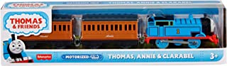 Thomas & Friends Motorized Toy Train with battery-powered Thomas engine and Annie and Clarabel passenger cars