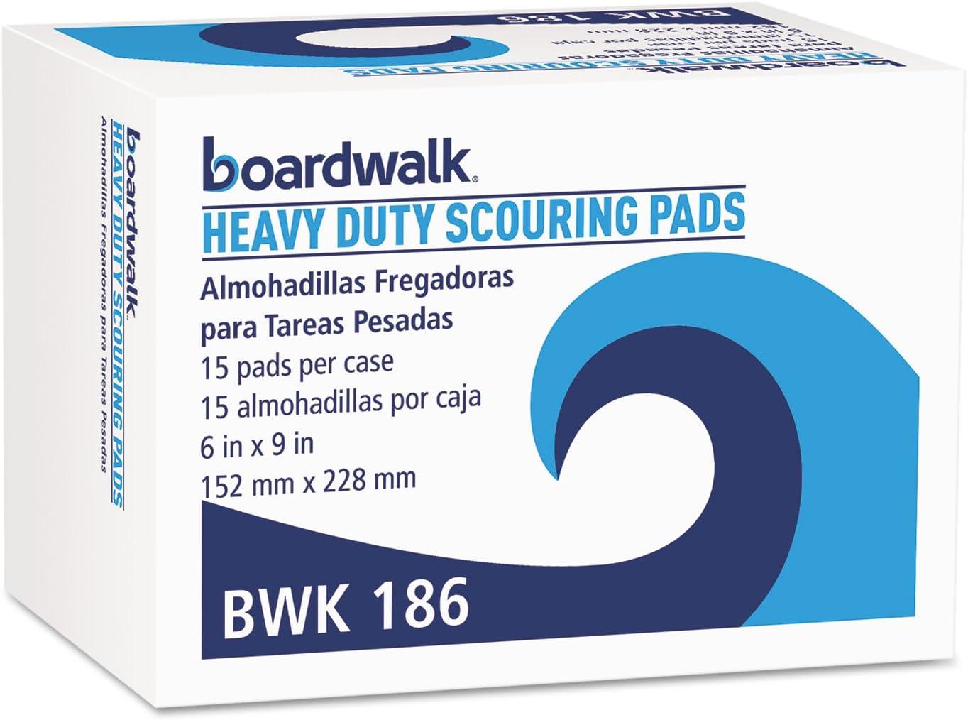 Boardwalk Heavy-Duty Scour Pad Green 6 54913 Popular standard Max 82% OFF 9 Carton x 15