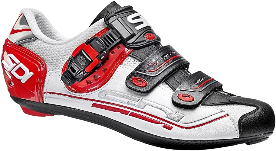 Sidi Genius 7 Chaussures Homme, blanc noir rouge