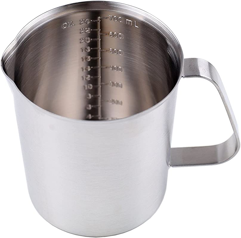 Artmice Measuring Cup Steaming Frothing Pitcher Artmice Good Grips Stainless Steel Measuring Cup With Marking With Handle 700ml 24OZ
