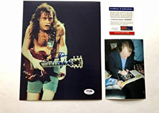 Angus Young Rare Autographed Signed Memorabilia Ac Dc Malcolm Brian 8x10 Photo PSA/DNA Coa