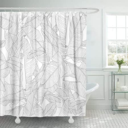 Ambesonne Modern Art Shower Curtain Minimalist Line Display Contemporary Links Webs Signal Graphic Form Abstract Cloth Fabric Bathroom Decor Set With Hooks 70 Long White And Black Home Kitchen