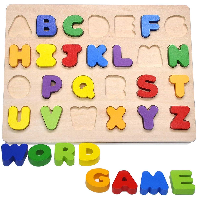 GYBBER&MUMU アルファベット パズル 積み木 形合わせ はめこみ 英文字 人気 誕生日 プレゼント 木のおもちゃ 子供赤ちゃんベビー 知育玩具