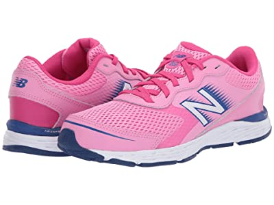 New Balance Kids 680v6 (Little Kid/Big Kid) (Candy Pink/Exhuberant Pink) Girls Shoes