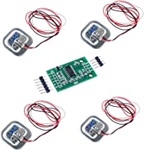 4pcs Load Cell 50kg Weight Sensor Half-bridge Human Body Scale Strain Gauge +1pcs HX711 Amplifier AD Weighing Module for Arduino DIYmalls