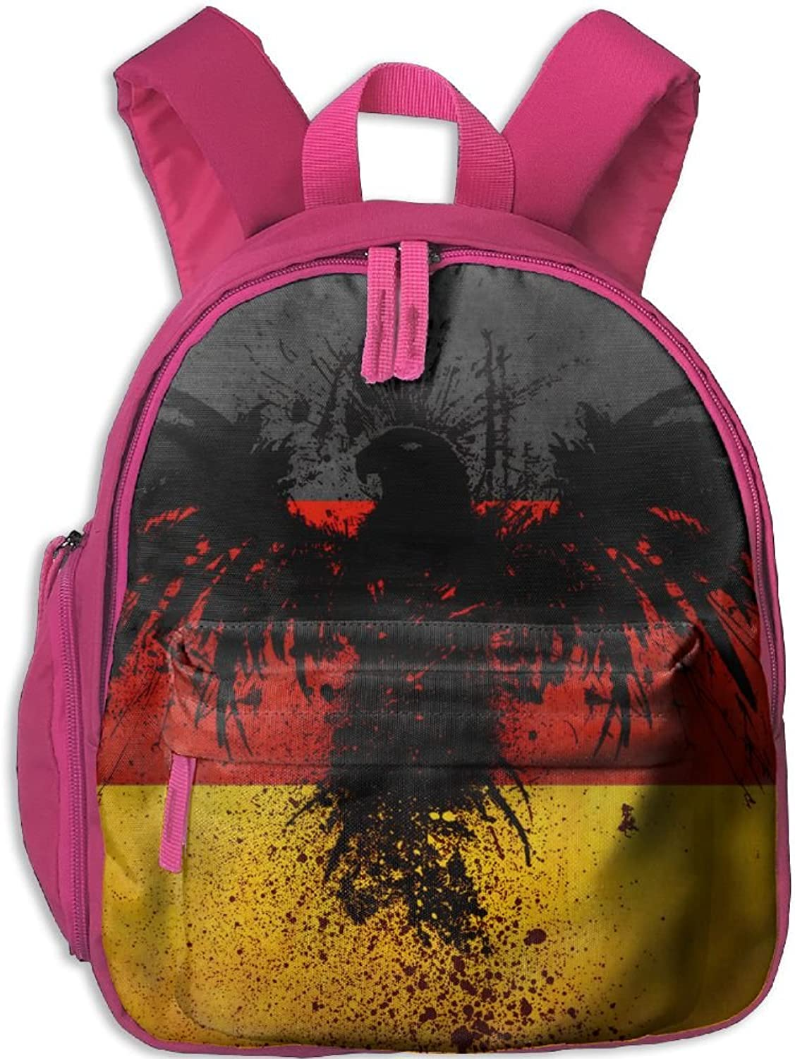 Pinta German Flag Eagle Cub Cool School Book Bag Backpacks for Girl's Boy's