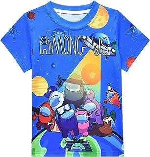 Imposter Tshirts Boys Size 10 Tee Cartoon Tops Kids T-Shirts Short Sleeve Teen Boy Cartoon Print Shirts Summer Clothes Chi...