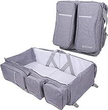 [ライフエッジ]赤ちゃんのベッドになるショルダーバッグ マザーズバッグ 折りたたみ 赤ちゃん お出かけ 簡易ベビーベッド 多機能 大容量 (グレー)