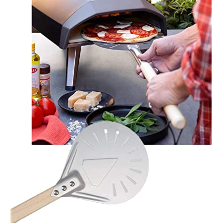 """Perforated Pizza Peel 7/8/9"""" Pizza Turning Peel,Perforated Pizza Peel with Long Handle for Baking Homemade Pizza Bread Cake (7 inch)"""