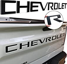 Auto safety Tailgate Inserts Letters Compatible with Chevy Silverado 2019 2020 2021 1500 2500 3500 HD Accessories,3D Raise...