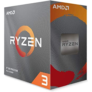 AMD Ryzen 3 3100, with Wraith Stealth cooler 3.6GHz 4コア / 4スレッド 65W【国内正規代理店品】100-100000284BOX