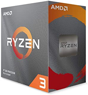 AMD Ryzen 3 3300X 4-Core, 8-Thread Unlocked Desktop Processor with Wraith Stealth Cooler