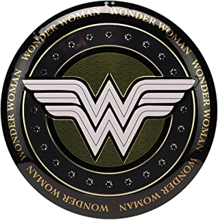 Open Road Brands DC Comics Wonder Women Button Sign Wall Art - DC Comics Officially Licensed Product Made with Embossed Metal - Light Weight