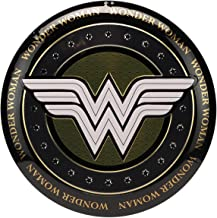 Open Road Brands DC Comics Wonder Women Button Sign Wall Art - DC Comics Officially Licensed Product Made with Embossed Me...