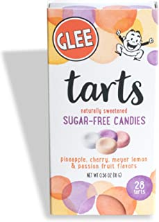 Glee Tarts, Sugar Free Candies, Zero Calories, Vegan, Gluten Free, Kosher, Box of 28 Pieces, Pack of 12 Boxes